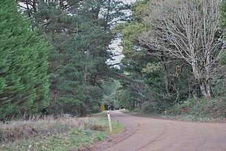 Cherokee, Victoria - Gap Road at Cherokee