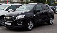Chevrolet Trax LS+ 1.4 4WD – Frontansicht, 11. August 2013, Wuppertal.jpg