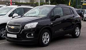 Chevrolet Trax - Image: Chevrolet Trax LS+ 1.4 4WD – Frontansicht, 11. August 2013, Wuppertal