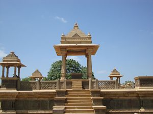 Paliya - Memorial with Chhatri, a cenotaph