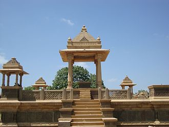 Paliya - Memorial with Chhatri, a cenotaph