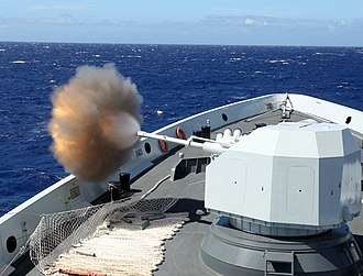 Type 054A frigate - Image: China Conducts Gunnery Exercise at RIMPAC 2016 160717 N MV764 001