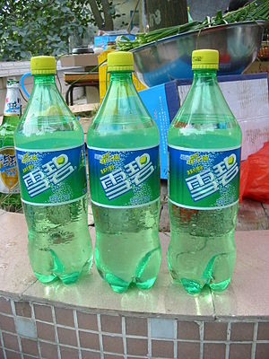 "1.25 litre bottles of ""Sprite"" drink..."