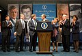 Chris Lu, Ted Kennedy Jr., Patrick Kennedy, Thomas Perez, Alexis Herman, Bill Brock, and Elaine Chao, 2015.jpg
