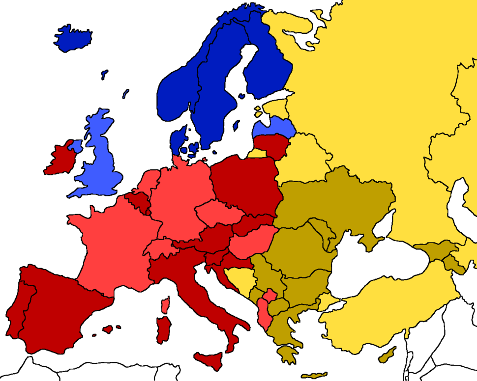 Christianity denominations of Europe