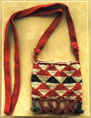 Textile arts of indigenous peoples of the Americas - Nivaclé textile pouch, collection of the AMNH
