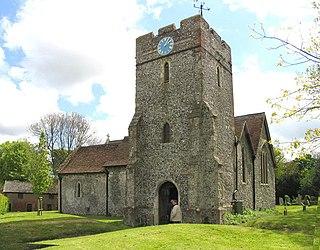 Eythorne farm village in the United Kingdom