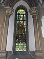 Church of the Holy Innocents, High Beach, Essex, England - chancel stained glass St Francis of Assisi 2.jpg