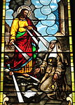 Church of the Sacred Heart (Coshocton, Ohio) - stained glass, Christ appearing to Saint Margaret Mary.JPG
