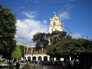The city center of Huehuetenango