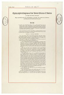 essay on the civil rights act of 1964 Background essay the civil rights movement can be defined as a mass popular movement to secure for african americans equal access to and opportunities for the basic privileges and rights of us citizenship.