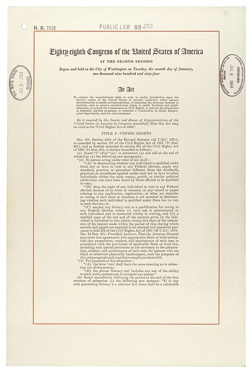 First page of the Civil Rights Act of 1964 Civilrightsact1964.jpg