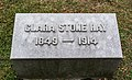 Clara Stone Hay granite marker 2 - Lake View Cemetery (39052730644).jpg