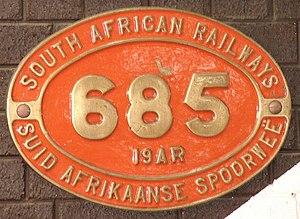 South African Class 19A 4-8-2 - Image: Class 19AR 685 (4 8 2)