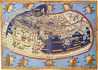 Ptolemy - A printed map from the 15th century depicting Ptolemy's description of the Ecumene, (1482, Johannes Schnitzer, engraver).