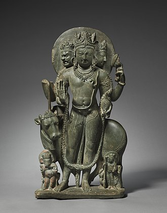 Kashmir Shaivism - Schist statue of Shiva Mahadeva, Northern India, Kashmir, 8th century, Cleveland Museum of Art.