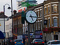 Clock by Sutton station, SUTTON, Surrey, Greater London (2).jpg