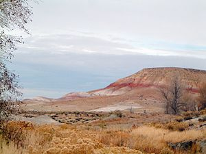 Shell, Wyoming - Brightly colored strata in the upper part of the Cloverly Formation near Shell.