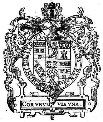 William Cecil, 1st Baron Burghley - Coat of arms of William Cecil as found in John Gerard's The herball or Generall historie of plantes (1597)