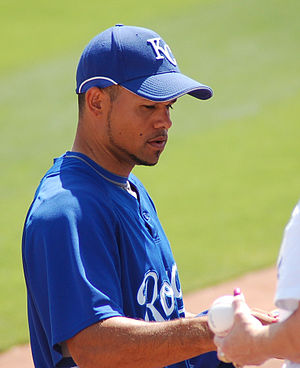 Coco Crisp - Crisp with the Kansas City Royals in 2009 spring training.