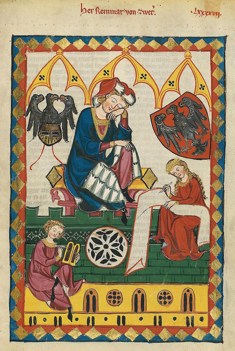 https://upload.wikimedia.org/wikipedia/commons/f/f0/Codex_Manesse_Reinmar_von_Zweter.jpg