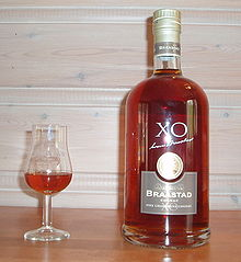 Cognac Braastad XO and tulip shaped glass.JPG