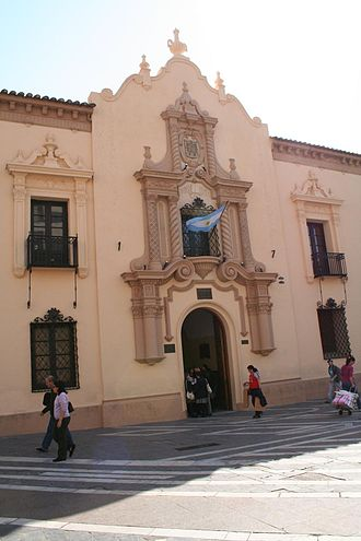 Colegio Nacional de Monserrat - Spanish Colonial revival entrance added in 1927