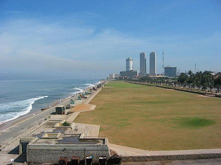 Galle Face Green, where many major events take place, is a favorite location for many. It is in close proximity to many of the major hotels. Formerly, it was the site of the city's race course, golf course and the cricket field Colombo - Galle Face.jpg