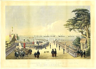 Perry's visit in 1854 Commodore-Perry-Visit-Kanagawa-1854.jpg