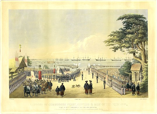 Commodore Matthew Perry expedition and his first arrival in Japan in 1853