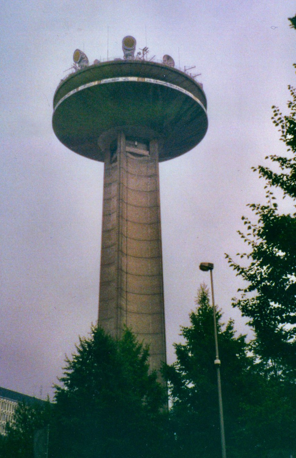 Communications tower in Brussels Redvers