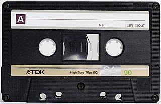 Cassette tape magnetic tape recording format for audio recording and playback