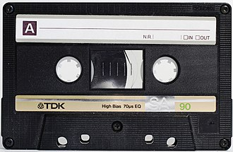 Cassette tape - A TDK SA90 Type II Compact Cassette