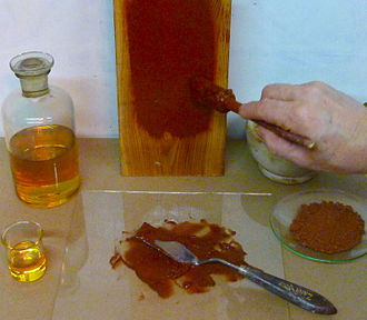 Drying oil - Image: Components of pure linseed oil color