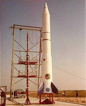 Space Vector Corporation - First commercial flight: Conestoga I 9/8/1982. Matagorda Island, Texas.