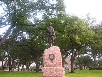 DeLeon Plaza and Bandstand - Confederate Monument at DeLeon Plaza created by Pompeo Coppini