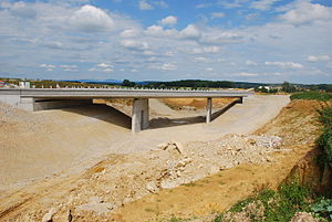 Construction Site of LGV Rhin-Rhône near Villargent in July 2008 - Eastbound.jpg