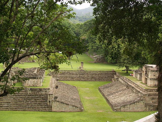 Terrain de jeu de pelote, Copan, Honduras