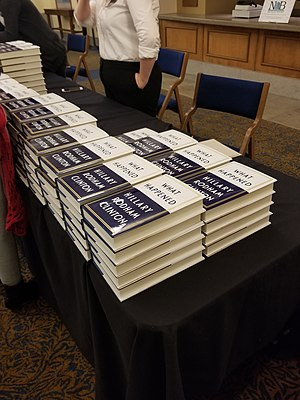 What Happened (Clinton book) - Copies of What Happened during Clinton's appearance at the Hill Auditorium in October 2017