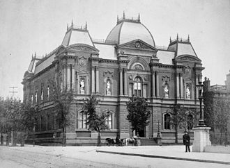 Renwick Gallery - Image of the Corcoran Gallery from ca. 1884-88 showing the lost sculpture niches and historic first floor windows.