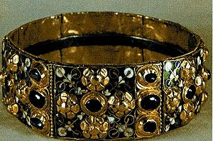 King - The Iron Crown of the Lombards, a surviving example of an early medieval royal crown
