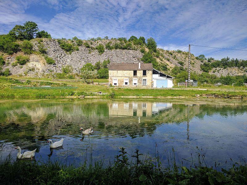 A hauteur de Nuits. Sur Chassignelles (Côte-d'Or), face à la carrière près de Combe de Roche.