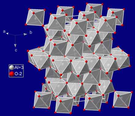 Crystal structure of sapphire Corundum.png