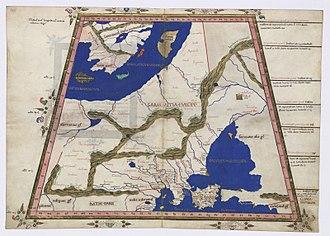 Carpi (people) - Carpiani on a 1467 map based on Ptolemy's Geographia
