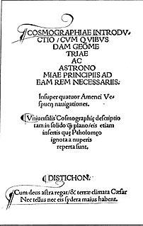<i>Cosmographiae Introductio</i> book