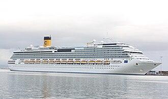 Concordia-class cruise ship - Image: Costa Pacifica in Katakolo 3