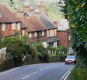 A286 road - Cottages on Shepherd's Hill, Haslemere