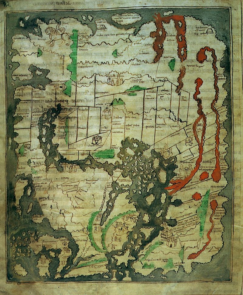 Anglo Saxon world map ca. 1000 AD