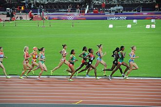 Athletics at the 2012 Summer Olympics – Women's 3000 metres steeplechase - Image: Course de 3000m steeple (JO Londres)