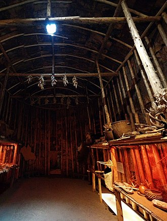 Crawford Lake Conservation Area - Image: Crawford lake longhouse interior 2